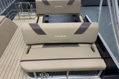 Swing Back Aft Seating of a 2020 Sylvan L3 DLZ Pontoon