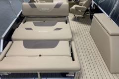 Rear DLZ Bed Seating of a 2020 Sylvan L3 DLZ Pontoon