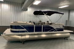 Blue and Silver Exterior of a 2020 Sylvan L3 LZ Pontoon 1