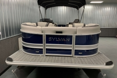 Blue and Silver Exterior of a 2020 Sylvan L3 LZ Pontoon 2