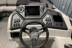 Drivers Console of a 2020 Sylvan L3 LZ Pontoon 2