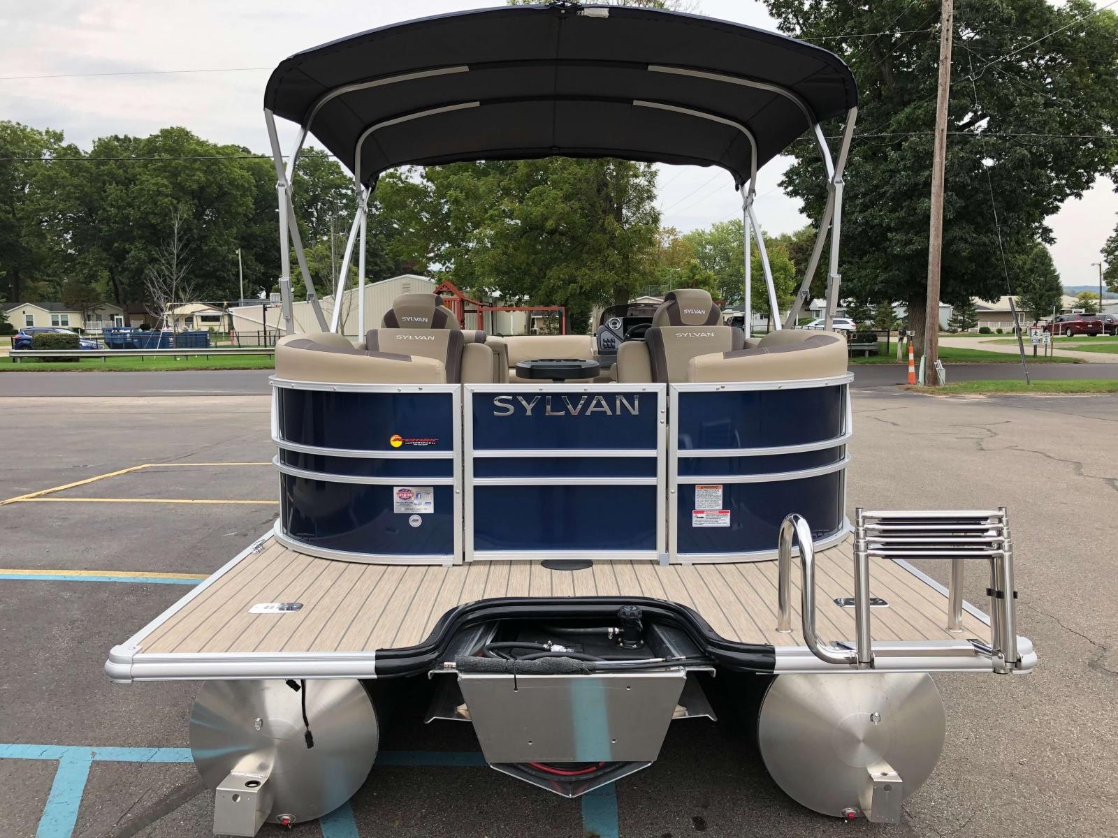 Extended Rear Swim Deck of a 2020 Sylvan L3 LZ Pontoon
