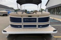 Blue and Tan Exterior of a 2020 Sylvan L3 LZ Pontoon 2