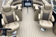 Interior Aft Layout of a 2020 Sylvan L3 LZ Pontoon 2