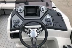 Drivers Console of a 2020 Sylvan L3 LZ Pontoon