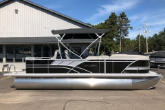 Black and Silver Exterior of a 2020 Sylvan L3 Party Fish Pontoon 5