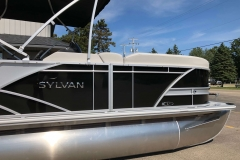 Black and Silver Exterior of a 2020 Sylvan L3 Party Fish Pontoon 3