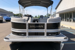 Black and Silver Exterior of a 2020 Sylvan L3 Party Fish Pontoon 2
