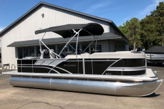 Black and Silver Exterior of a 2020 Sylvan L3 Party Fish Pontoon 1
