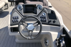 Drivers Console of a 2020 Sylvan L3 Party Fish Pontoon 1