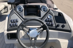 Drivers Console of a 2020 Sylvan L3 Party Fish Pontoon 2