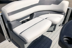 Port Side Bow Seating of a 2020 Sylvan L3 Party Fish Pontoon