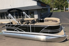 Black Exterior of a 2021 Sylvan 8520 Cruise Pontoon