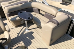 Rear Wraparound Seating of a 2021 Sylvan 8520 Cruise Pontoon