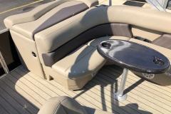 Rear Sunpad Seating of a 2021 Sylvan 8520 Cruise Pontoon