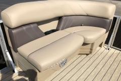 Forward Port Side Lounge Seating of a 2021 Sylvan 8520 Cruise Pontoon
