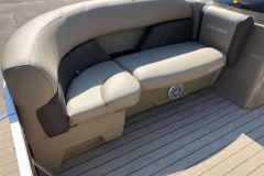 Forward Starboard Side Lounge Seating of a 2021 Sylvan 8520 Cruise Pontoon