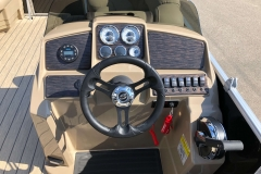 Drivers Console of a 2020 Sylvan 8520 Cruise Pontoon