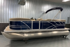 Blue Exterior of a 2020 Sylvan Mirage 8520 Cruise Pontoon 2