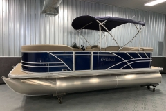 Blue Exterior of a 2020 Sylvan Mirage 8520 Cruise Pontoon 1
