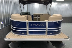 Blue Exterior of a 2020 Sylvan Mirage 8520 Cruise Pontoon 3