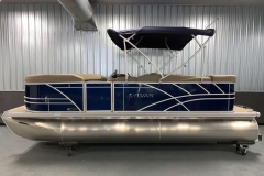 Blue Exterior of a 2020 Sylvan Mirage 8520 Cruise Pontoon 6