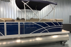 Blue Exterior of a 2020 Sylvan Mirage 8520 Cruise Pontoon 5