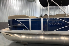 Blue Exterior of a 2020 Sylvan Mirage 8520 Cruise Pontoon 4