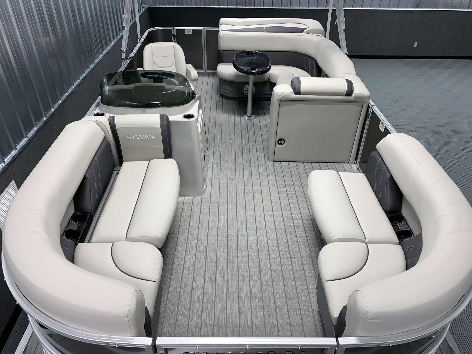 Interior Layout of a 2020 Sylvan Mirage 8520 Cruise Pontoon