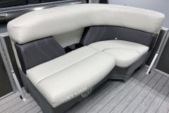Front Lounge Seating of a 2020 Sylvan Mirage 8520 Cruise Pontoon