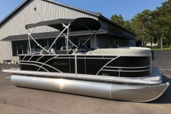 Black Exterior of a 2020 Sylvan Mirage 8520 Cruise-N-Fish Pontoon 1