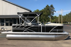 Black Exterior of a 2020 Sylvan Mirage 8520 Cruise-N-Fish Pontoon 5