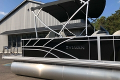 Black Exterior of a 2020 Sylvan Mirage 8520 Cruise-N-Fish Pontoon 4