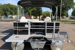 Extended Rear Swim Deck of a 2020 Sylvan Mirage 8520 Cruise-N-Fish Pontoon