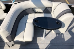 Wraparound Seating of a 2020 Sylvan Mirage 8520 Cruise-N-Fish Pontoon