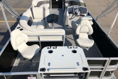 Interior Layout of a 2020 Sylvan Mirage 8520 Cruise-N-Fish Pontoon 2
