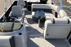 Interior Aft Layout of a 2020 Sylvan Mirage 8520 Cruise-N-Fish Pontoon