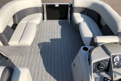 Interior Bow Layout of a 2020 Sylvan Mirage 8520 Cruise-N-Fish Pontoon