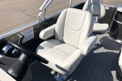 Captain's Helm Chair of a 2020 Sylvan Mirage 8520 Cruise-N-Fish Pontoon