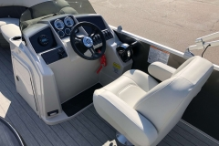 Helm and Captain's Chair of a 2020 Sylvan Mirage 8520 Cruise-N-Fish Pontoon 1