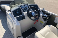 Drivers Console of a 2020 Sylvan Mirage 8520 Cruise-N-Fish Pontoon 1
