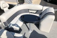 Rear Wraparound Seating of a 2020 Sylvan Mirage 8520 Cruise-N-Fish Pontoon