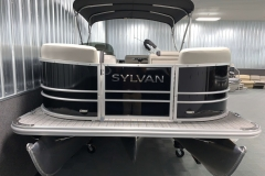 Bow Swim Deck of a 2021 Sylvan Mirage 8520 Cruise Tritoon Boat