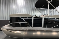 Black Exterior Color of a 2021 Sylvan Mirage 8520 Cruise Tritoon Boat