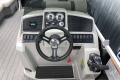 Bluetooth Jensen Stereo of a 2021 Sylvan Mirage 8520 Cruise Tritoon Boat