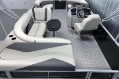Interior Layout of a 2021 Sylvan Mirage 8520 Cruise Tritoon Boat