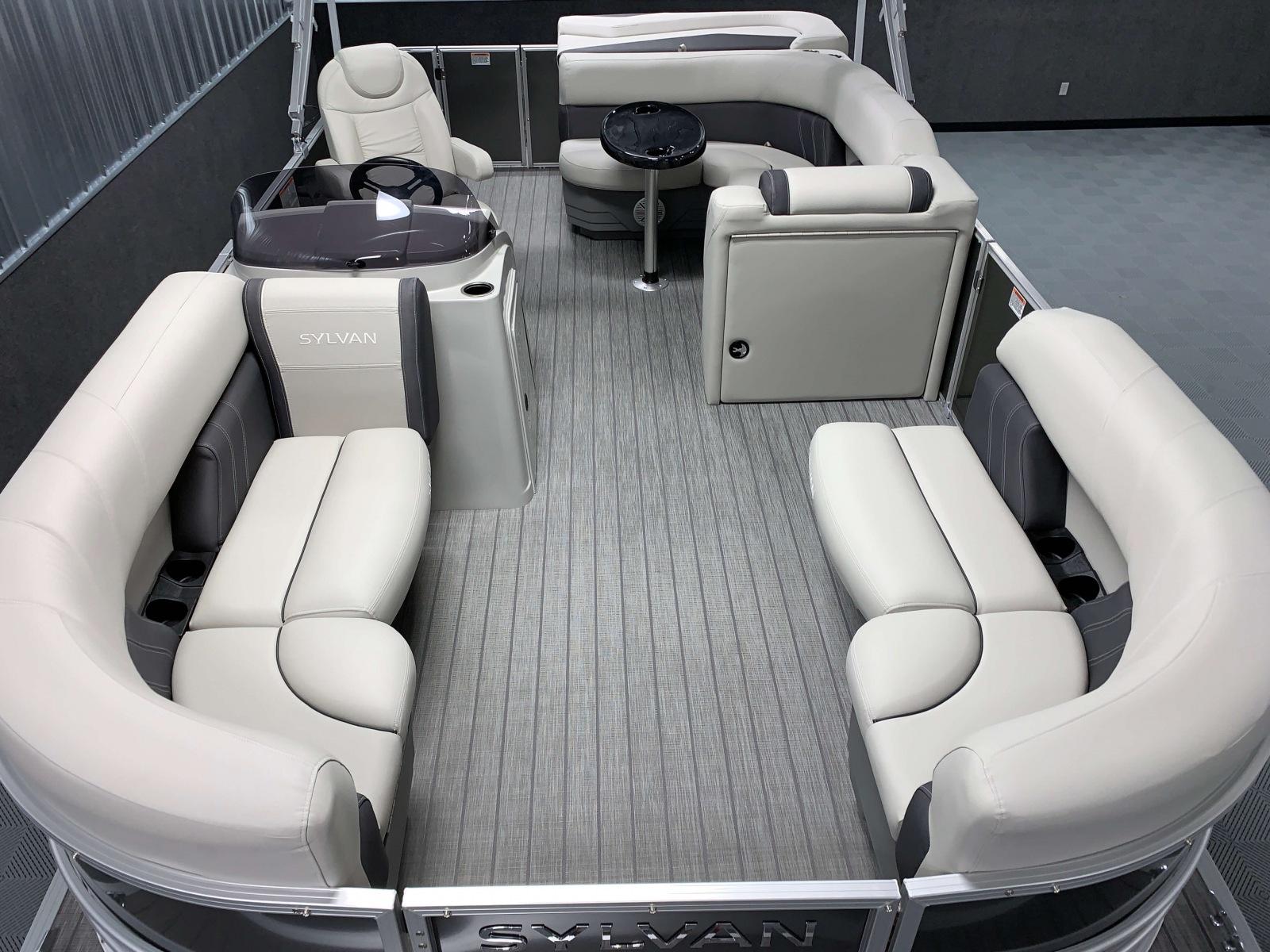 Interior Layout of a 2020 Sylvan Mirage 8520 Cruise Tritoon 1