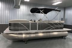 Carbon Exterior of a 2020 Sylvan Mirage 8520 Cruise Tritoon 1