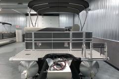 Carbon Exterior of a 2020 Sylvan Mirage 8520 Cruise Tritoon 6