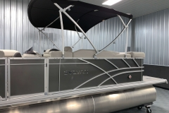 Carbon Exterior of a 2020 Sylvan Mirage 8520 Cruise Tritoon 4